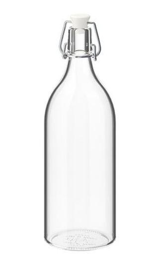 5 units IKEA glass bottle with stopper
