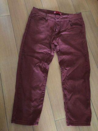 Padini Sz30 Brown Red 3/4 pants *058