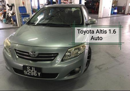 Toyota altis 1,6 auto petrol sg use only