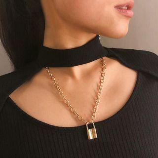 Women Lock Chain Necklace