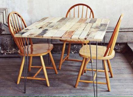 Pallet dining set table