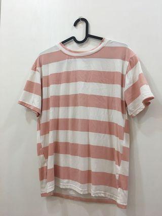 粉白條紋上衣 T-shirt