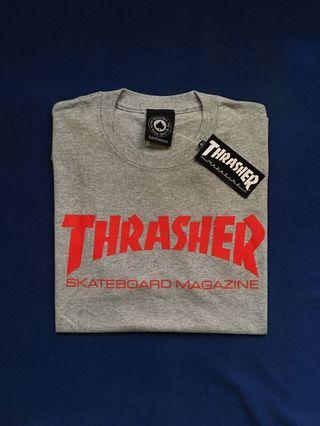 THRASHER SKATE MAG TEES GREY