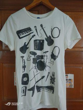 H&M 音樂 樂器 music 個性 T shirt size:XS