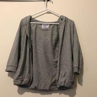 garage light zip up sweater