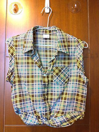 格紋薄襯衫
