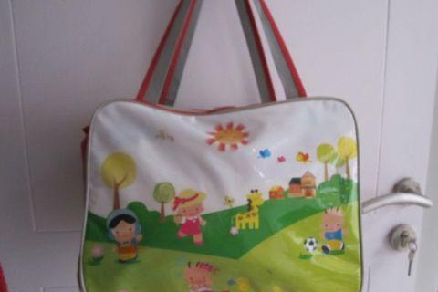 Tas bayi nursery bag kuning merah full colour cantik besar muat banyak diaper