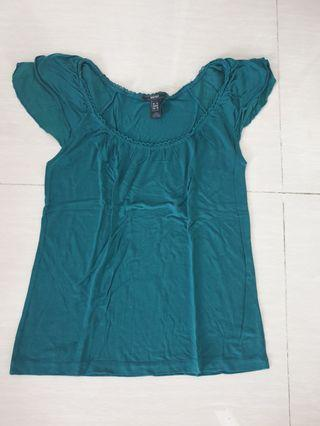 MNG Suit green top
