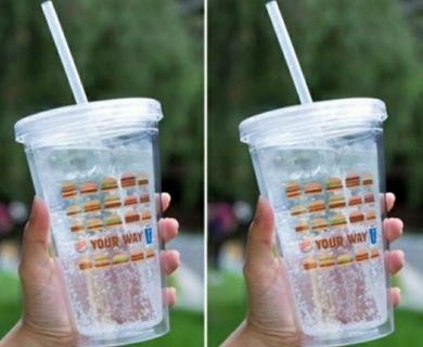 全新漢堡王x百事可樂聯名   全台限量雙層冷飲杯含冷飲吸管 便宜出售
