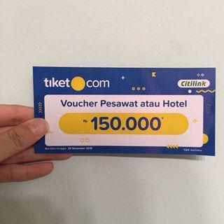 Voucher Tiket.com Citilink Hotel Pesawat 150rb