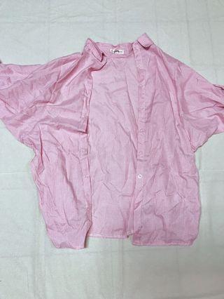 粉色條紋襯衫