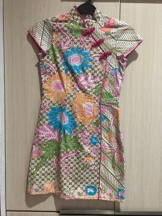 Cheongsam Batik Dress
