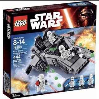🆕 LEGO 75100 Star Wars First Order Snowspeeder