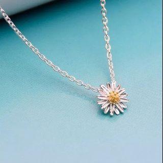 Kalung Bunga Daisy Choker Korea Flower Necklace