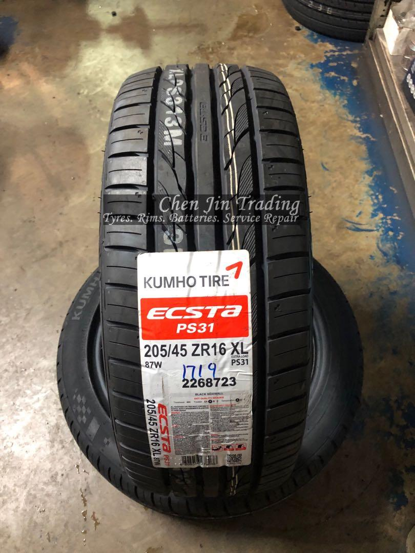 4pcs 205/45/16 Kumho Ecsta PS31 car tyre