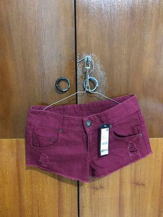 Maroon Hotpants