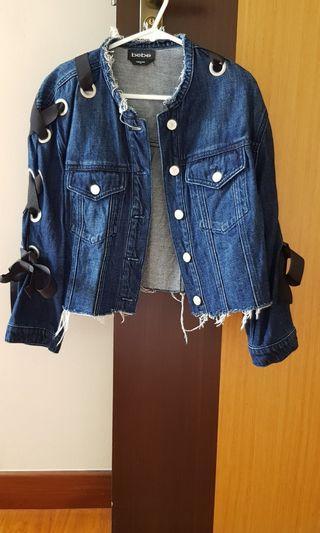 Bebe denim lace up jacket