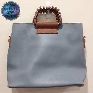 藍色個性手提包