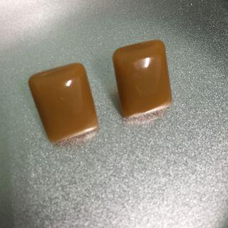全新免運|韓系氣質焦糖色全新耳環