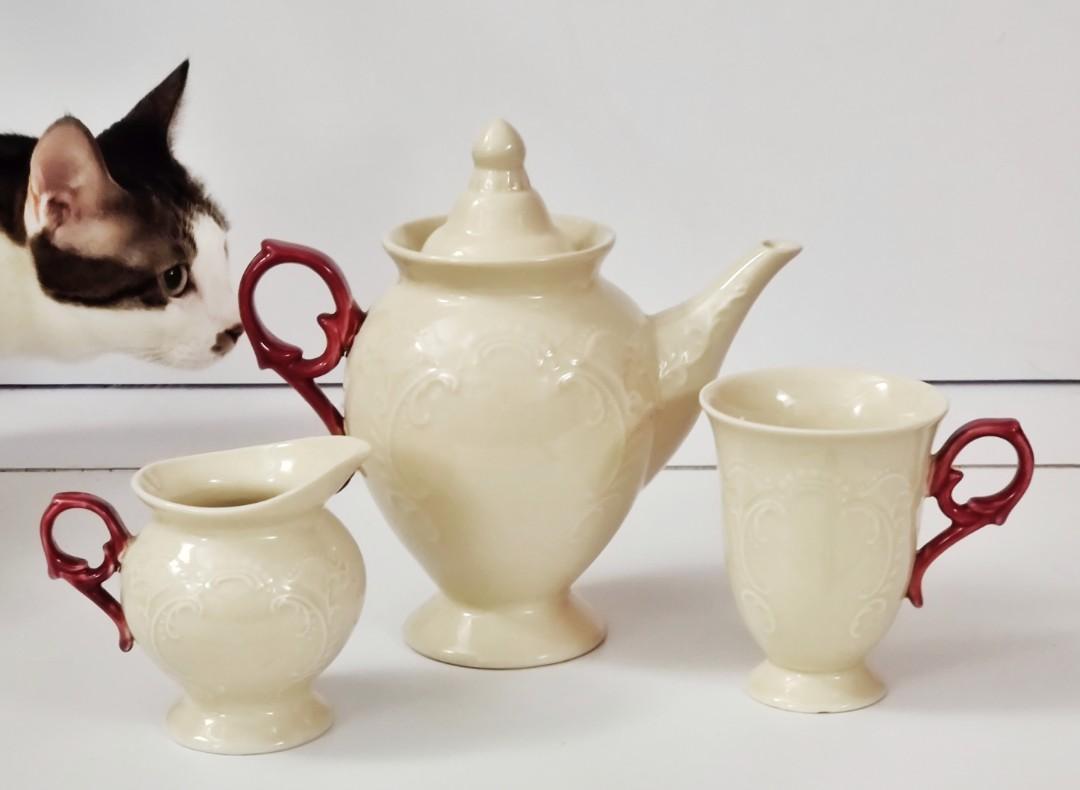 Franc Franc 茶具套裝一套三件 - 茶杯 茶壺 奶杯