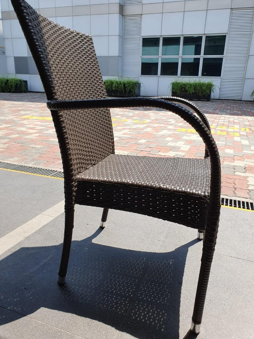 [Almost NEW] Cafe OutDoor Rattan Chair