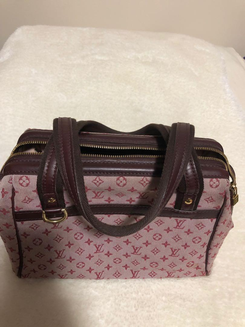 AUTHENTIC LOUIS VUITTON Cherry Monogram Mini Lin Josephine PM Bag