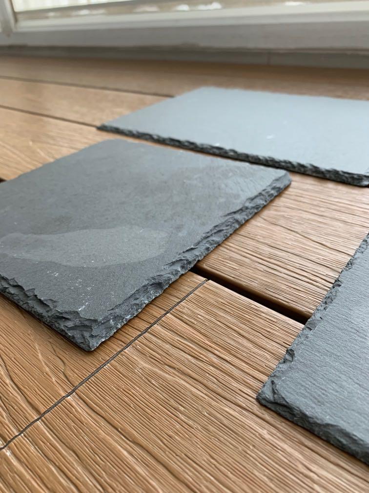 Black Slate Tiles Food Display Platters