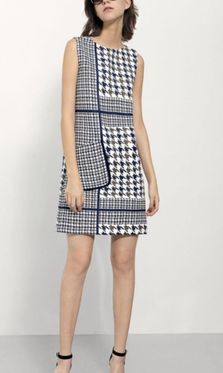BNWT Saturday club dress in houndstooth