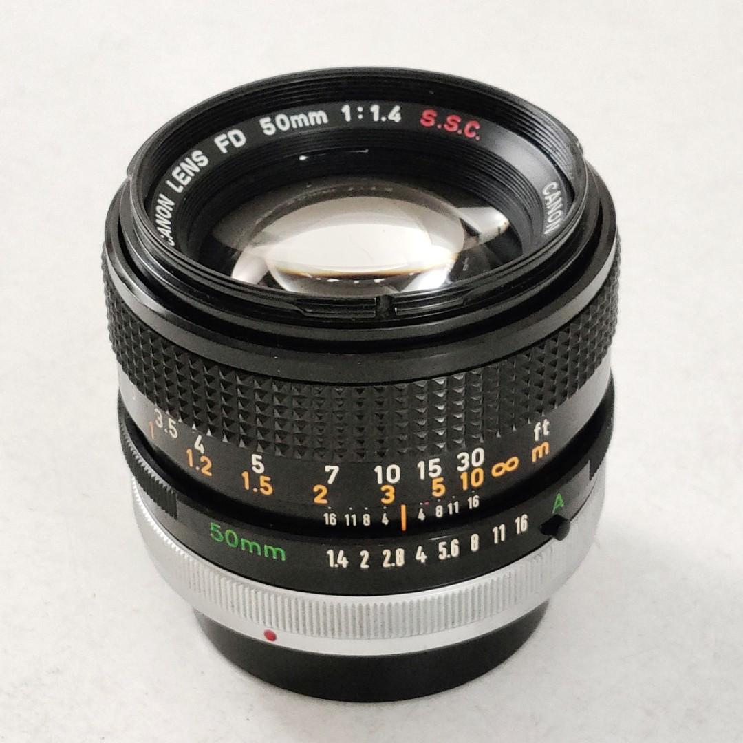 Canon FD 50mm f1.4 S.S.C. lens 鏡頭