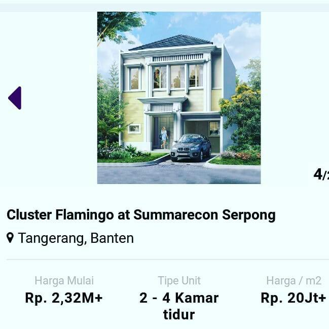 cluster flamingo Summarecon Serpong