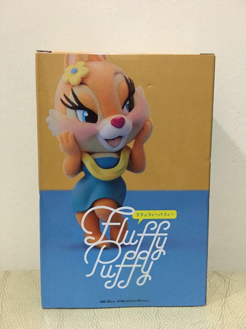 100/% Authentic!! Chip /'n Dale Clarice Disney Characters Fluffy Puffy