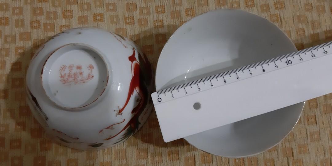 Vintage Dragon and Phoenix Bowls