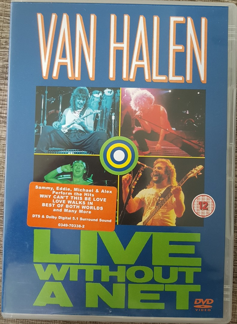 Dvd Van Halen Live Without A Net Concert Music Media Cd S Dvd S Other Media On Carousell