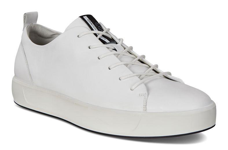 Ecco Soft 8 Mens White Sneakers, Men's