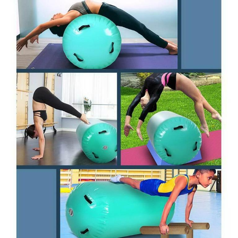 Everfit 120x60cm Inflatable Air Roll Roller Track Mat Airtrack Gymnastics Mint