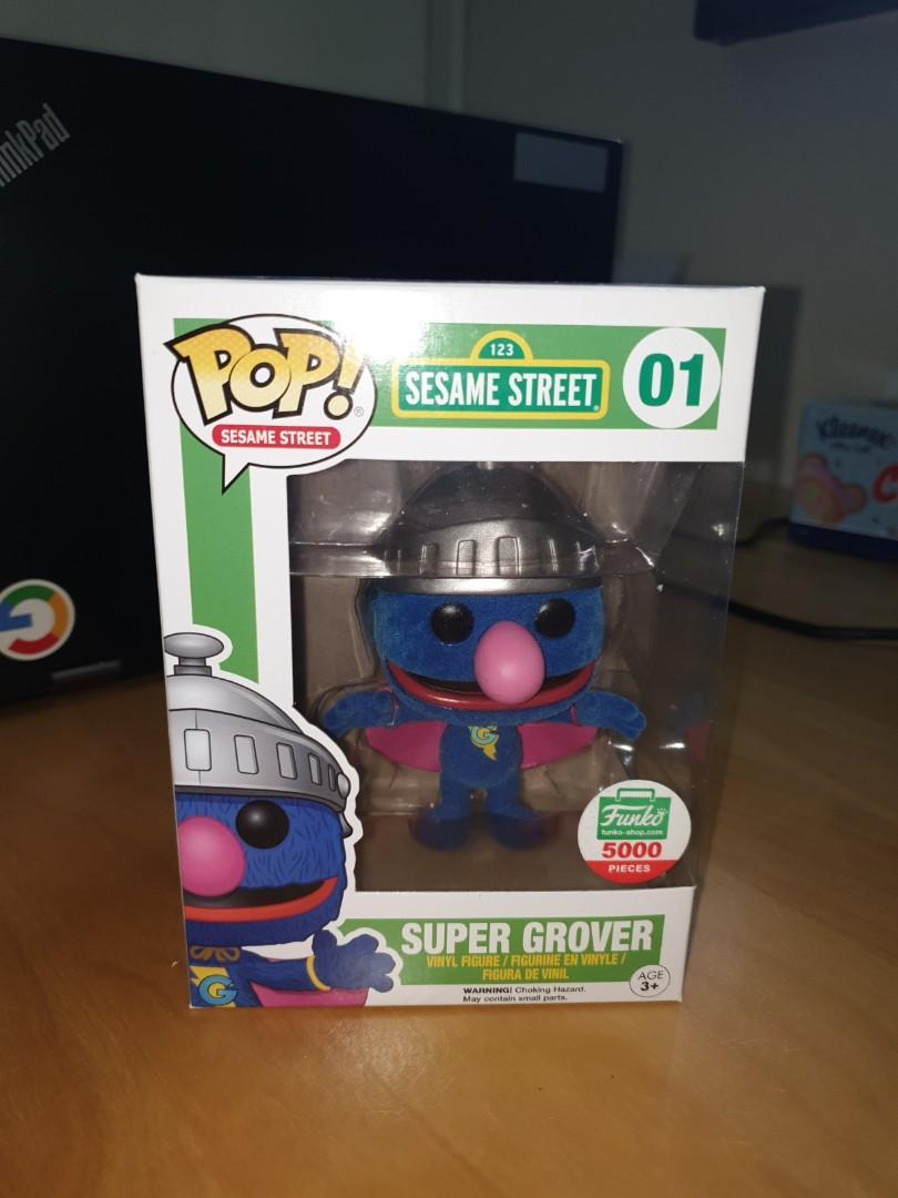 Funko Pop Sesame Street Super Grover Flocked