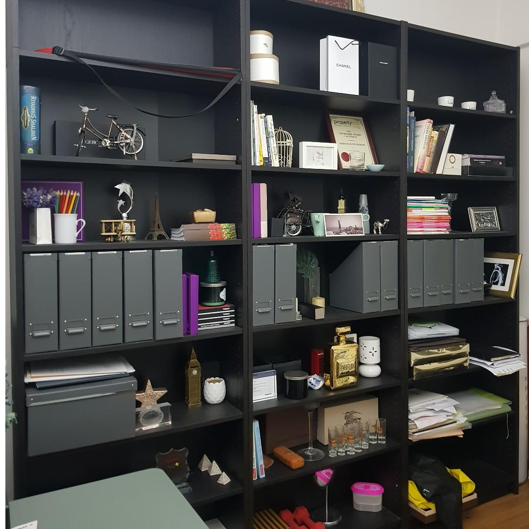 Ikea Billy Bookcase Black Brown 240x80x237 On Carousell