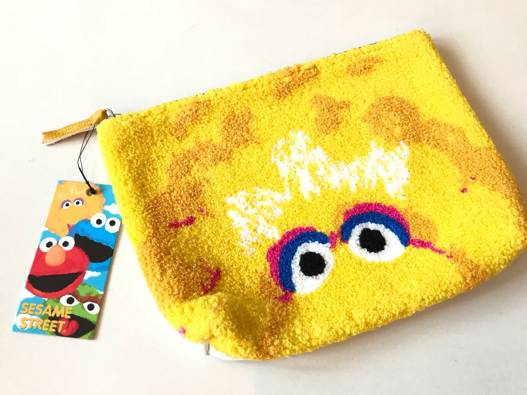日本芝麻街大鳥japan sesame bigbird clutch totebag 手提袋