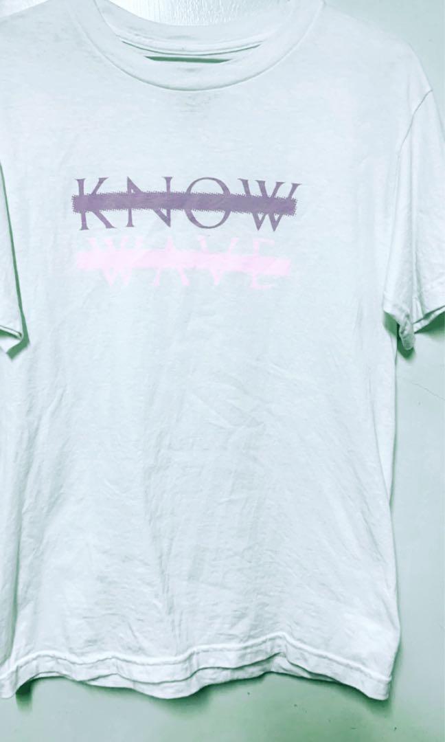 fabrycznie autentyczne fantastyczne oszczędności style mody Know wave logo 短袖T恤上衣粉紫色美國品牌supreme stussy ...