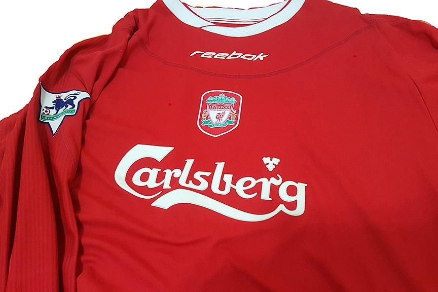 Liverpool FC 2002-2003 Long Sleeve Authentic Jersey - Size L Reebok
