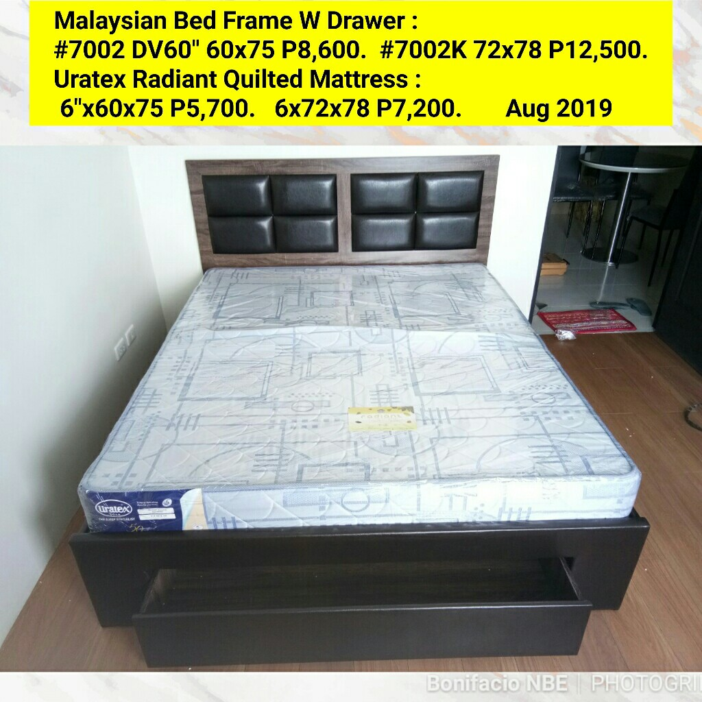Malaysian Bed Frame W Drawer Home Furniture Furniture Fixtures Beds Mattresses On Carousell