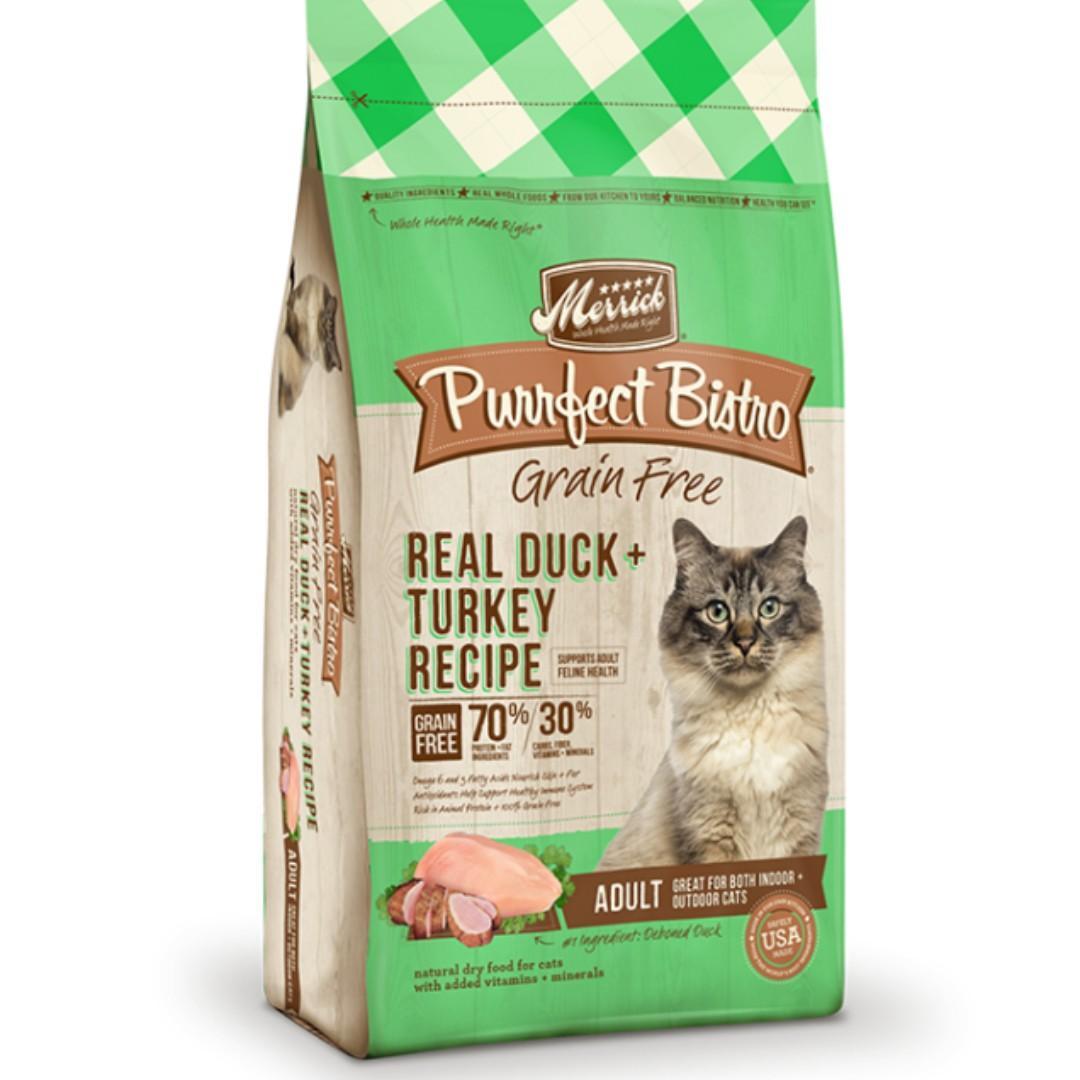 Merrick麻利無穀物天然貓糧-成貓鴨肉火雞配方