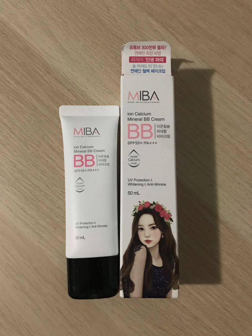 MIBA Ion Calcium Mineral BB Cream SPF 50+ KOREAN Beauty
