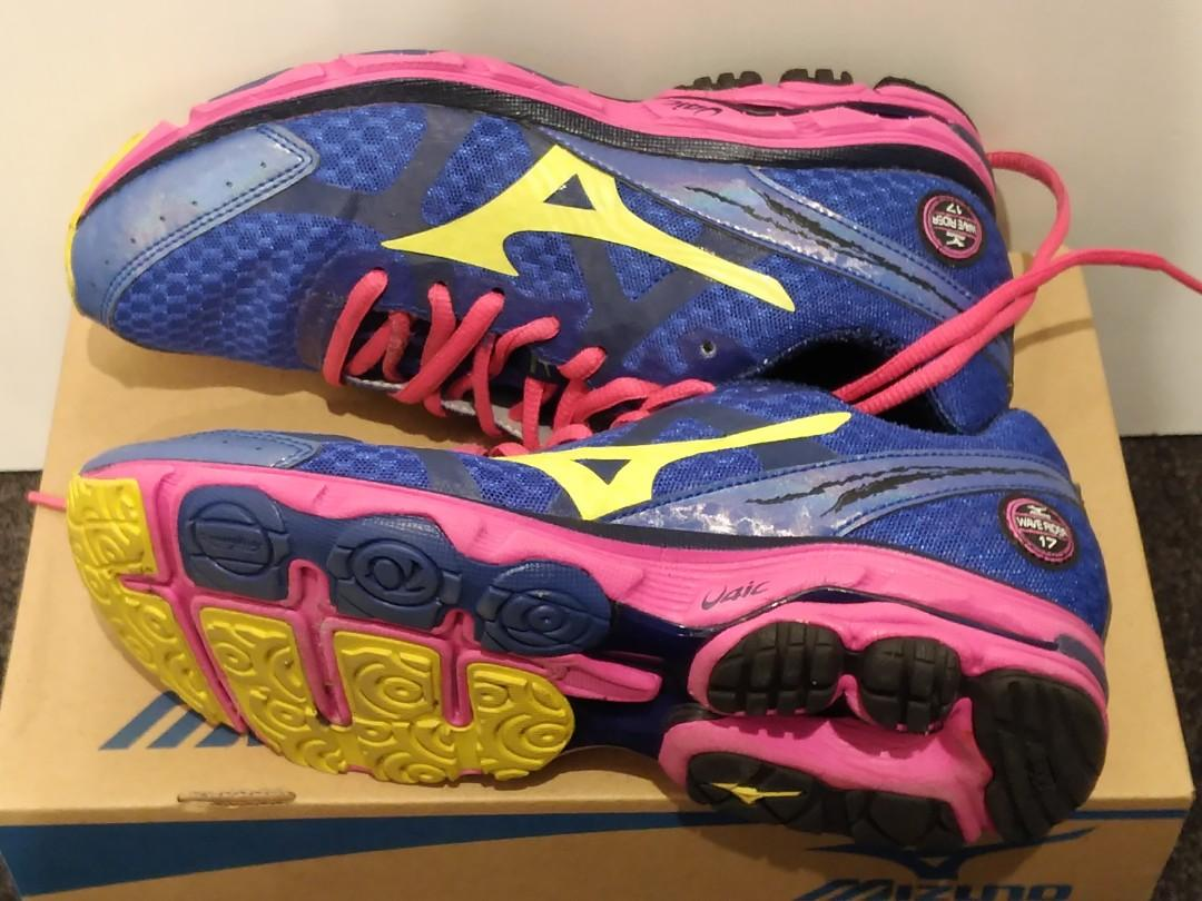 Mizuno wave rider women's running shoes trainers size US8 EUR38.5