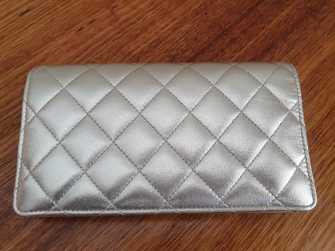 NEW RARE Chanel Lambskin Long Bi fold Gold MELBOURNE Limited Edition Wallet