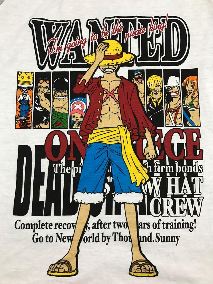 One Piece Monkey D Luffy Raglan Tees Budak Getah Topi Jerami