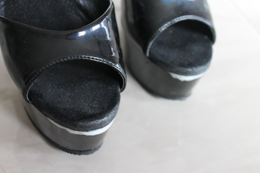 Pleaser Delight-609 6-inch heels - Patent Black