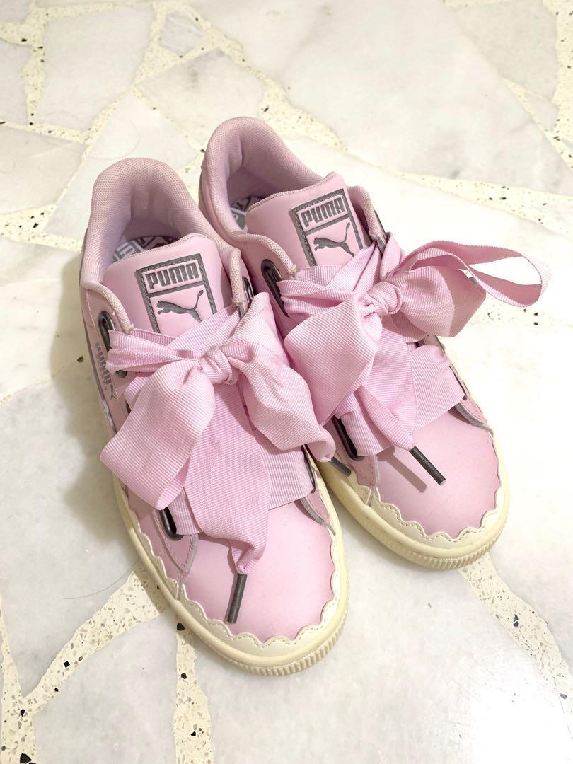 Puma basket heart scallop sneakers