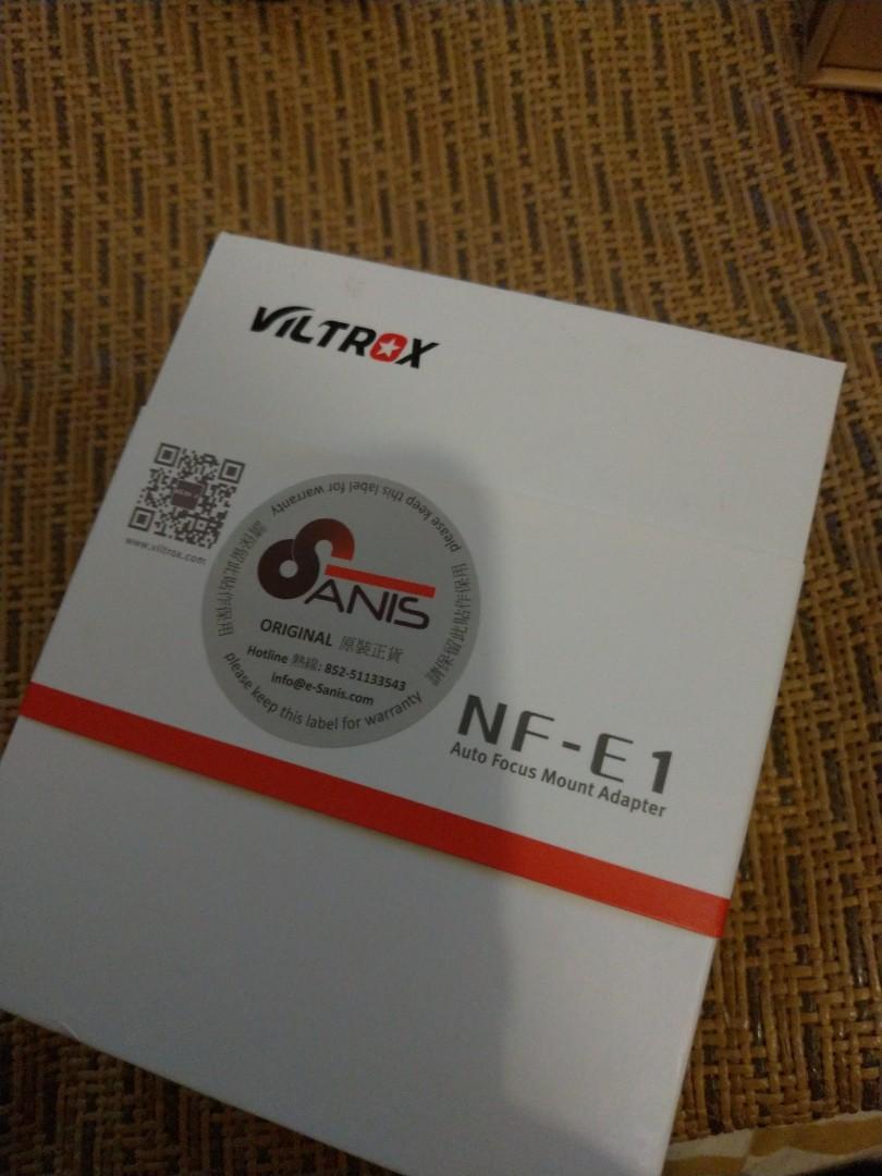VILTROX NF-E1 Nikon AFG lens to Sony E Camera