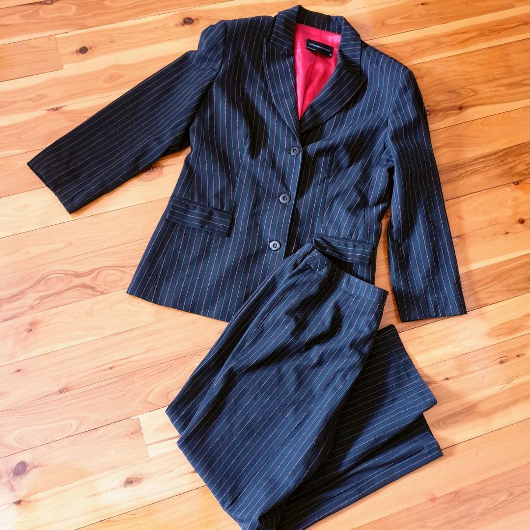 Women's 'STITCHES AUSTRALIA' Gorgeous black with red pinstripes pant suit set